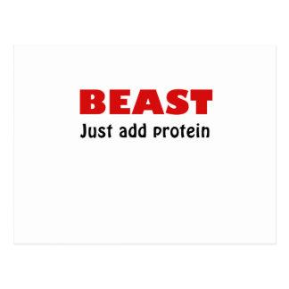La bestia apenas añade la proteína postales