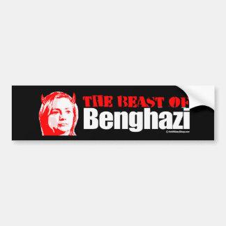 La bestia de Bengasi - Anti-Hillary - blanco - .pn Pegatina Para Auto
