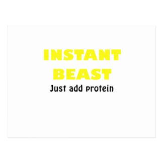 La bestia inmediata apenas añade la proteína postales