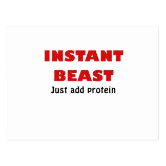 La bestia inmediata apenas añade la proteína tarjeta postal