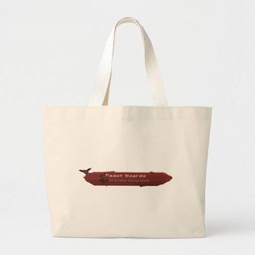 La bestia sube al logotipo bolsas de mano