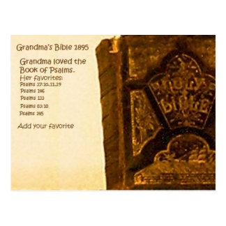 La biblia 1895 de la abuela tarjeta postal