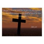 La biblia cita el 3:16 de Juan de la tarjeta