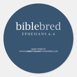 La biblia crió el botón pegatina redonda
