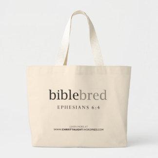 La biblia crió el tote bolsas de mano