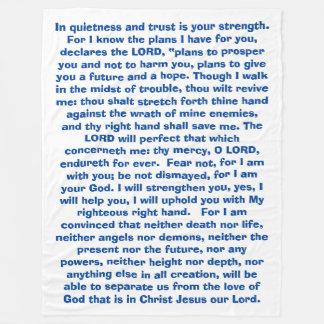 La biblia de dios de las promesas versifica la manta de forro polar
