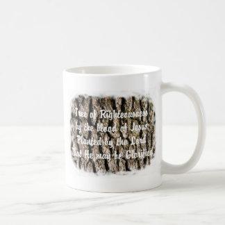 La biblia de la naturaleza de la corteza de árbol  tazas de café