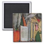 La biblia de St Jerome y la paloma de St Gregory,  Imán Cuadrado