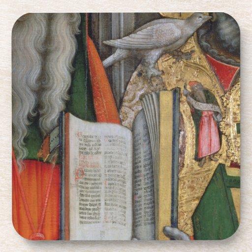 La biblia de St Jerome y la paloma de St Gregory,  Posavasos