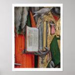 La biblia de St Jerome y la paloma de St Gregory,  Póster
