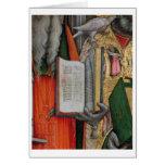 La biblia de St Jerome y la paloma de St Gregory,  Tarjeton