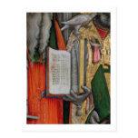La biblia de St Jerome y la paloma de St Gregory, Postal