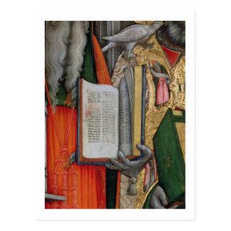 La biblia de St Jerome y la paloma de St Gregory,  Tarjeta Postal