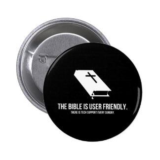 La biblia es de uso fácil pin redondo de 2 pulgadas