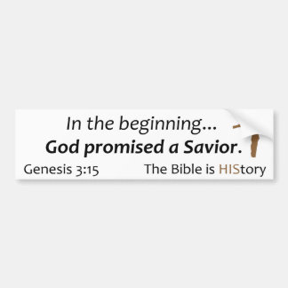 La biblia es historia - escritura, cruz, marrón pegatina para auto