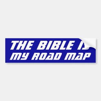 La biblia es mi mapa de camino pegatina de parachoque