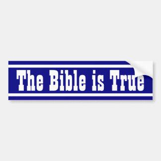La biblia es verdad pegatina para auto