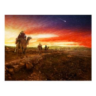 La biblia - hombres sabios - unos de los reyes postal
