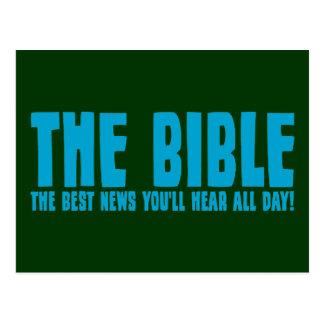 La biblia: las mejores noticias que usted oirá postal