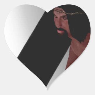 La biblia negra: Jesús Pegatina En Forma De Corazón