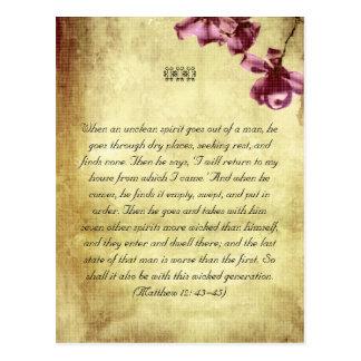 La biblia pasa la postal