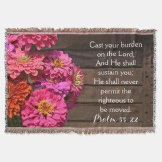 La biblia rosada del salmo del Zinnia echó a su Manta