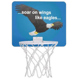 La biblia se eleva en las alas como Eagles Canasta De Baloncesto Mini