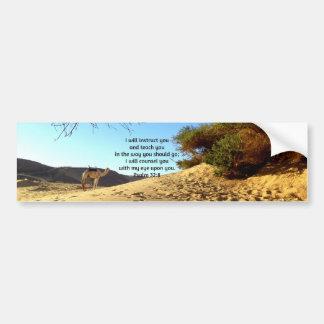 La biblia versifica 32:8 inspirado del salmo de la pegatina para auto