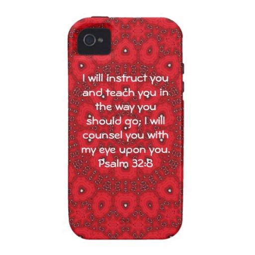 La biblia versifica 32:8 inspirado del salmo de la funda vibe iPhone 4