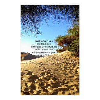 La biblia versifica 32:8 inspirado del salmo de la personalized stationery