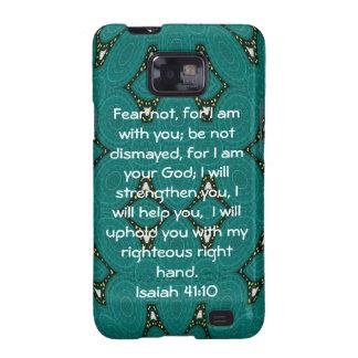 La biblia versifica el 41:10 inspirado de Isaías d Galaxy S2 Funda