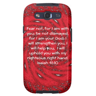La biblia versifica el 41 10 inspirado de Isaías d Samsung Galaxy S3 Fundas