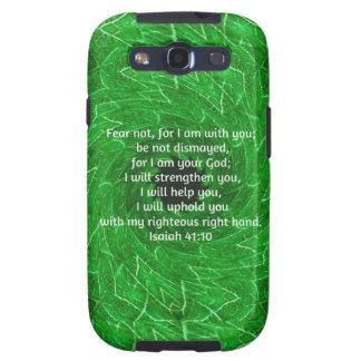 La biblia versifica el 41 10 inspirado de Isaías d Samsung Galaxy S3 Carcasa