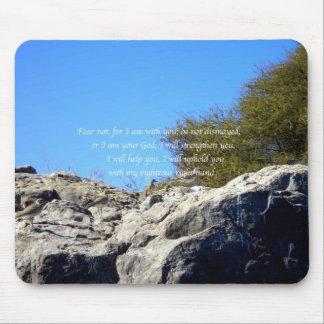 La biblia versifica el 41:10 inspirado de Isaías d Mouse Pad