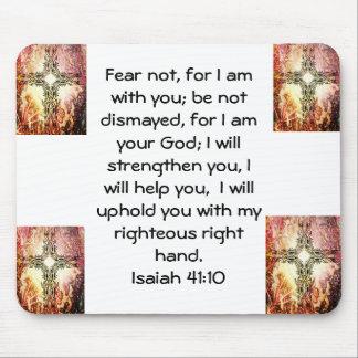 La biblia versifica el 41:10 inspirado de Isaías d Mouse Pads