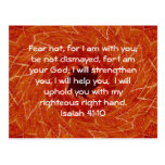 La biblia versifica el 41:10 inspirado de Isaías d Postal