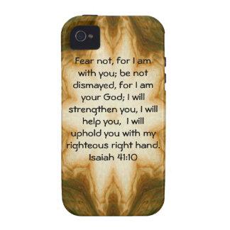 La biblia versifica el 41:10 inspirado de Isaías Vibe iPhone 4 Carcasa