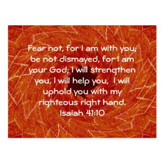La biblia versifica el 41:10 inspirado de Isaías Postales