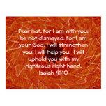 La biblia versifica el 41:10 inspirado de Isaías Postal