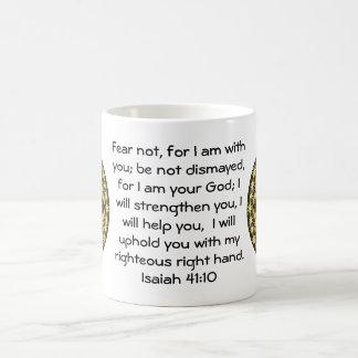 La biblia versifica el 41:10 inspirado de Isaías Taza Clásica