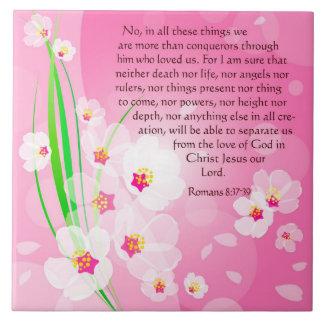 La biblia versifica sobre el amor - 8:37 de los ro azulejo cuadrado grande