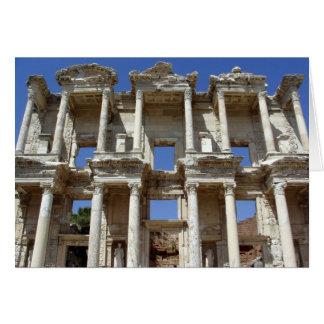 La biblioteca antigua de Celsus - Ephesus, Turquía Tarjeta De Felicitación