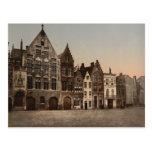 La biblioteca, Brujas, Bélgica Tarjetas Postales