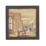 La biblioteca, castillo de Windsor, 1838 (litho de Caja De Recuerdo De Calidad