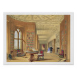 La biblioteca, castillo de Windsor, 1838 (litho de Poster