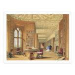 La biblioteca, castillo de Windsor, 1838 (litho de Tarjetas Postales