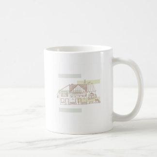 La biblioteca classic white coffee mug
