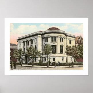 La biblioteca de Carnegie, Atlantic City, NJ Póster