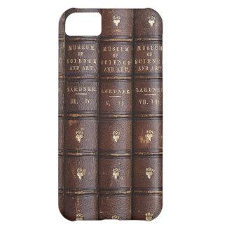 La biblioteca de cuero del vintage reserva el caso