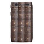La biblioteca de cuero del vintage reserva el caso motorola droid RAZR carcasas